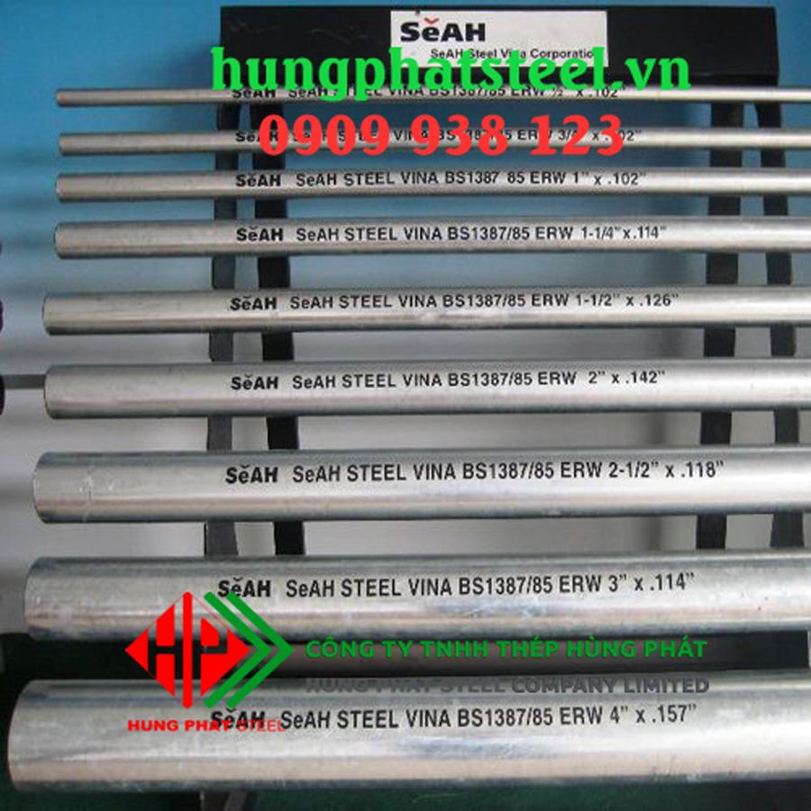 Nơi bán thép ống mạ kẽm SeAh tại Hà Nội, uy tín, chất lượng